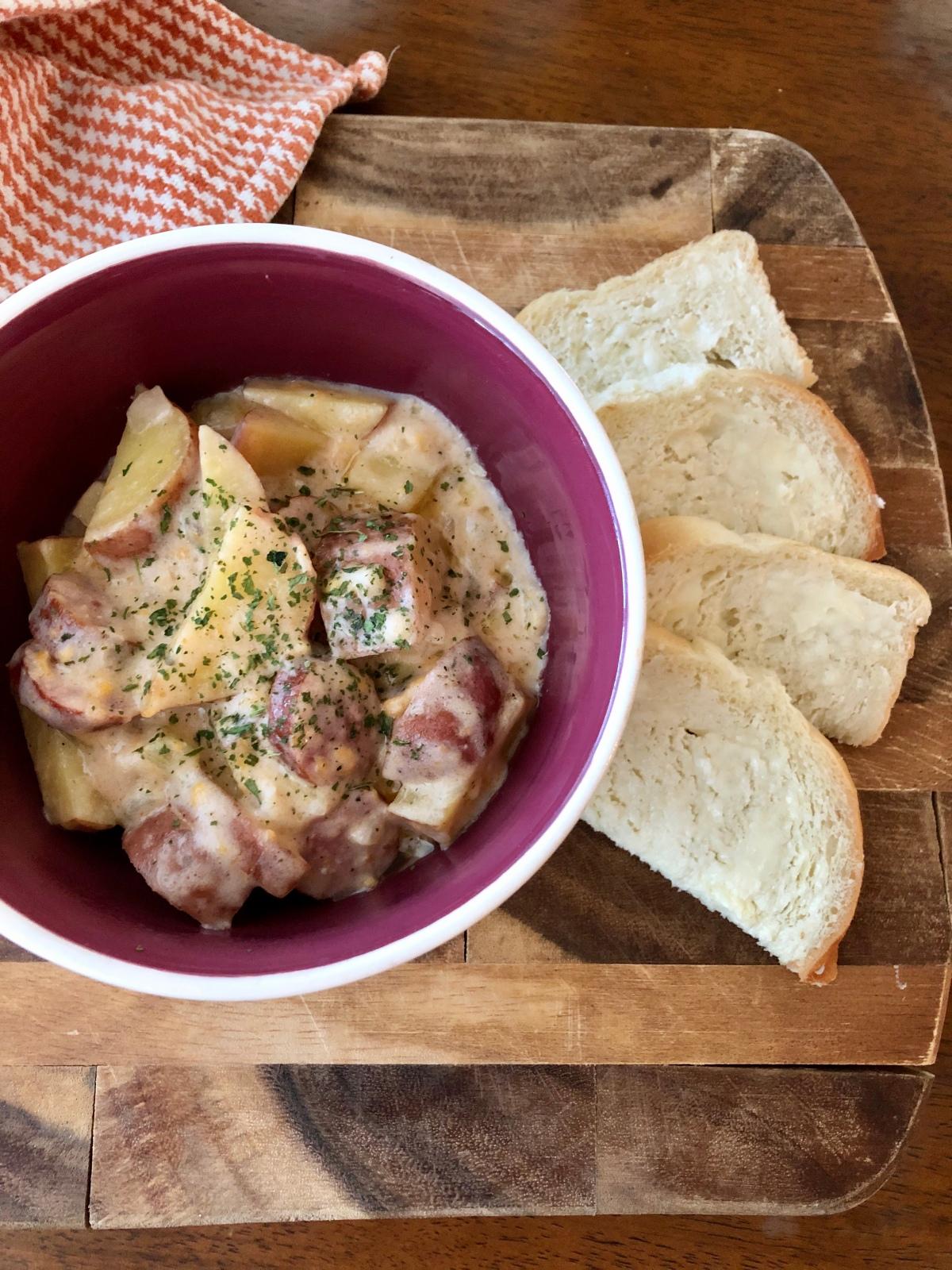 Crockpot sausage andpotatoes